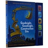 顺丰包邮 Goodnight, Goodnight Construction Site Sound Book晚安,工程