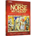 世界经典神话传说系列 Treasury of Norse Mythology 北欧神话 英文原版 美国国家地理儿童百科