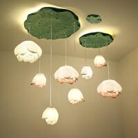 现代新中式艺术荷花吊灯创意个性客厅餐厅茶室禅意莲花灯具中国风