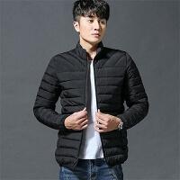 2018新款男士冬季棉衣修身轻薄款立领韩版时尚潮流学生棉袄男 X