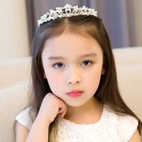 皇冠�^��和��^�公主皇冠女童�Y服�l�����女孩花童水�@�l箍�l�A王冠配�MYZQ61 白色