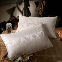 羽绒枕头颈椎枕柔软鹅绒枕单人鹅绒枕高枕芯L05定制 白色