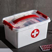 家庭医药箱 药品多层收纳箱大容量药盒整理箱药箱 家用塑料大药箱