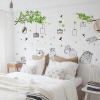 照片墙贴壁画自粘贴纸网红出租屋改造卧室床头墙面上创意装饰神器 回忆树下的小仓鼠 超大