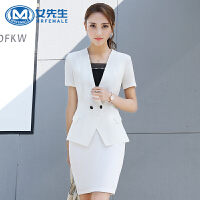 职业装女装套装正装西装西服工作服2018新款时尚商务套裙短袖