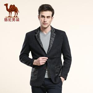 骆驼男装 秋装新款 男士休闲单西服西 男士便西外套西装