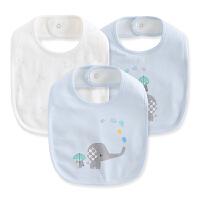 儿童宝宝吃饭围兜棉围兜3件装婴儿宝宝口水巾棉纱布