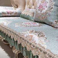 欧式沙发垫防滑布艺四季通用美式实木沙发罩全盖皮坐垫