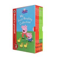 小猪佩奇 英文原版绘本 Peppa pig 粉红猪小妹佩佩猪6本精装盒装 My First Reading Collection 小瓢虫0-5岁分级阅读精装进口 Read it yourself