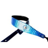 (货到付款)Vorson 乐器 电吉他 贝司 电贝司 电箱琴 木吉他 六弦琴 背带 PU闪闪系列 蓝色 E-03-1