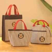 黎�卡日本小熊男女小�W生午餐包帆布保�乇惝�包手提�э�盒的袋子��咪包
