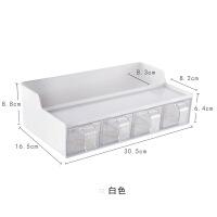 好货多功能厨房置物架收纳调味盒挂件厨具用品塑料免打孔调味料盒子
