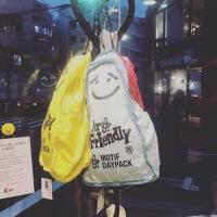 日本小众mr. friendly儿童治愈微笑可爱双肩书包背包书包ins可爱