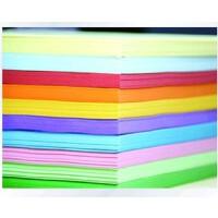 彩色平面纸 80g彩色复印纸 A4手工纸 折纸 彩纸 100张