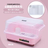 装碗筷收纳盒碗碟架放碗柜沥水架置物架厨房收纳架家用收纳箱带盖