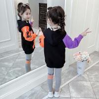 2019春秋季新款韩版儿童洋气小女孩童装时髦卫衣两件套女童秋装套装