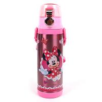 迪士尼 米妮儿童水杯不锈钢真空防漏有背带 儿童保温杯学生直饮杯 3415