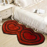 地毯卧室床边榻榻米房间床前 欧式粉色公主可爱心形个性创意婚庆定制