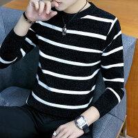 冬季毛衣男士圆领加绒加厚韩版修身潮流帅气保暖线衣服打底针织衫