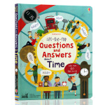 英文原版绘本Lift The Flap Questions and Answers About Time时间的问与答亲