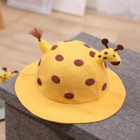 夏季婴儿渔夫帽宝宝婴幼儿防护薄款春秋可爱夏天遮阳帽