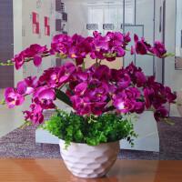 【天天】蝴蝶兰花艺盆栽仿真干花套装饰假花绢花客厅餐桌