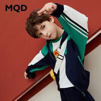 MQD童装男童套装2019秋季新款中大童卡通外套运动裤儿童两件套潮
