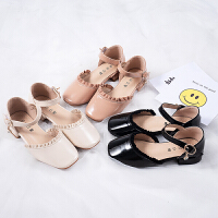 女童皮鞋儿童高跟公主鞋小女孩软底中大童单鞋宝宝豆豆鞋