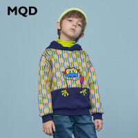 【2件3.5折券后价:168】MQD童装男童连帽卫衣大图案20冬装新款儿童保暖卫衣加绒加厚上衣