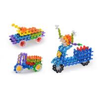 雪花片 大号儿童积木玩具幼儿园女孩拼装拼插100片 100片无收纳箱
