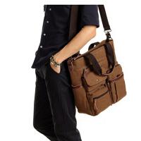 男士商务手提包单肩包斜挎包潮男背包休闲男包笔记本电脑包