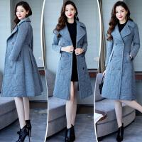 羽绒女2018新款韩版冬季修身显瘦中长款过膝棉袄轻薄棉衣外套