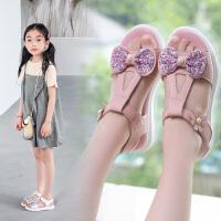 2019夏季新款时尚中大童公主鞋宝宝运动沙滩鞋女童凉鞋韩版软底鞋