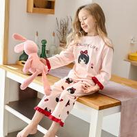 儿童睡衣春秋季女童家居服套装女大童薄款小女孩中大童长袖款