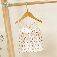 婴儿宝宝夏季外出服婴儿背带裙可爱萌女宝宝公主裙子