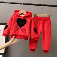 1-5周岁女宝宝洋气童装套装加绒加厚运动秋冬装两件套