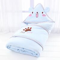新生婴儿抱被 纯棉 秋冬新生儿包被婴儿抱被纯棉宝宝被子春秋冬季加厚抱毯用品可脱