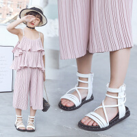 儿童罗马鞋小女孩鞋子2019夏季新款时尚软底公主鞋女童凉鞋