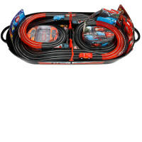 男孩双人赛道高速手摇汽车轨道赛车儿童玩具电动遥控小汽车总动员 官方标配