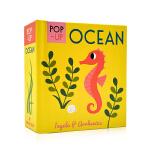 启蒙立体小书 海洋生物 Pop-up Ocean 英文原版绘本 认知识物早教启蒙绘本 低幼英语启蒙学习 亲子互动游戏书