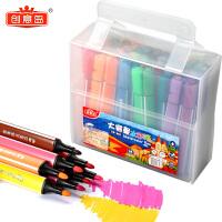 幼儿园宝宝画画笔可水洗彩色笔学生用水彩画笔套装初学者手绘儿童水彩笔24色36色12色