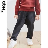 MQD小童男幼童针织裤2019秋装新品宝宝韩版条纹针织儿童萝卜长裤