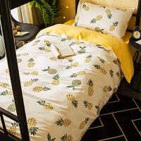 纯棉大学生宿舍床上用品3三件套寝室12米09儿童床笠床单人被套