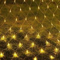 led网灯渔网彩灯闪灯串灯满天星户外防水草坪星星春节装饰灯 2*3米防水带尾 彩色