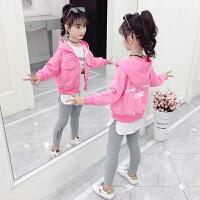 2019新款洋气时髦小女孩儿童秋装卫衣三件套女童春秋款套装