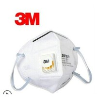 3M防雾霾防尘口罩 9002V带呼吸阀PM2.5防护口罩 男女通用口罩 单个装