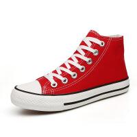 春帆布鞋女低帮系带女鞋韩版休闲鞋平底布鞋学生男情侣板鞋子