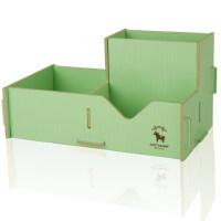 得力9123彩色木质组合拼装笔筒 收纳盒DIY笔筒收纳架 收纳盒