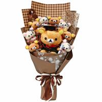 【品牌特惠】卡通花束小熊娃娃花束特别创意生日礼物毕业照礼物送同学女朋友