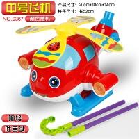 1~3岁宝宝学步手推车玩具小飞机推着走带响铃吐舌头 婴幼儿推推乐